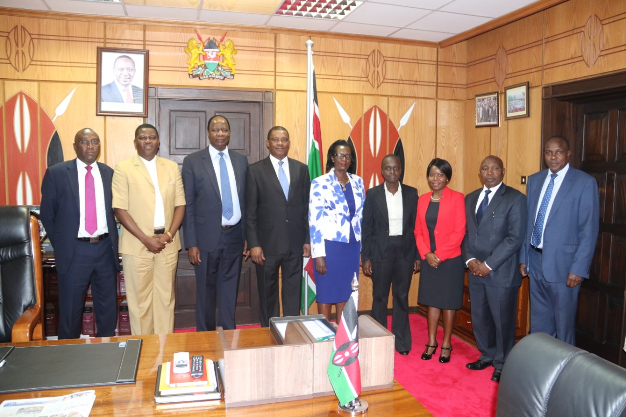 Speaker Muturi Meets the new SRC Commissioners