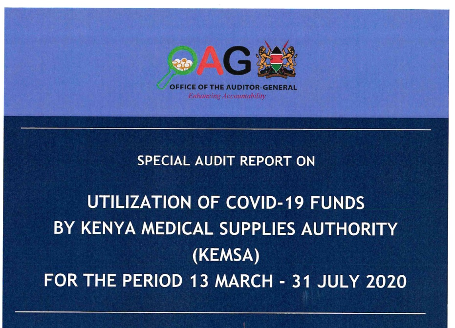 SPECIAL AUDIT REPORT ON UTILIZATION OF COVID -19 FUNDS BY KEMSA