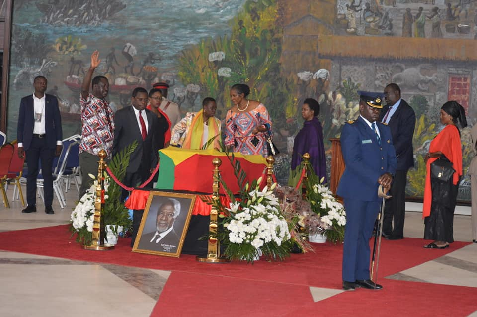 Kenya's Delegation to Annan's Burial in Ghana Pays Last Respects ahead of Burial
