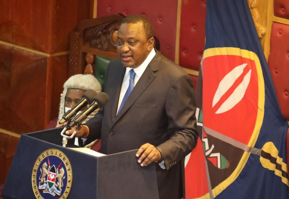THE 7TH SPEECH ON STATE OF THE NATION ADDRESS BY H. E UHURU KENYATTA C.G.H THE PRESIDENT OF THE REPUBLIC OF KENYA, PARLIAMENT BUIDLINGS.