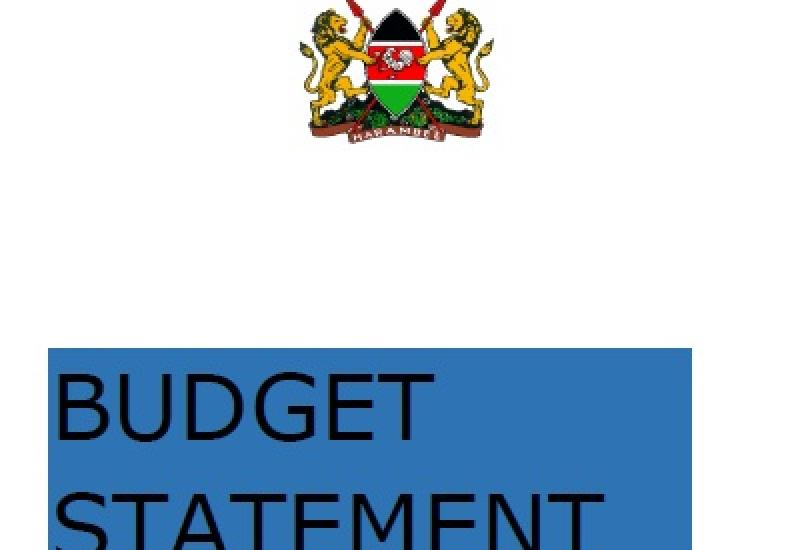 Budget Statement - Public pronouncement of the Budget Highlights and Revenue-Raising Measures for the National Government for the FY 2020/2021 &  the Medium-Term